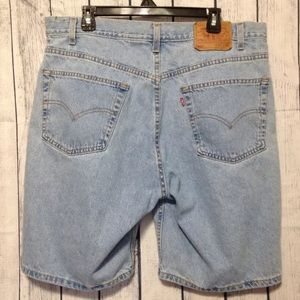 Levis 505 Blue Jean Shorts Relaxed Fit Mens 40 USA